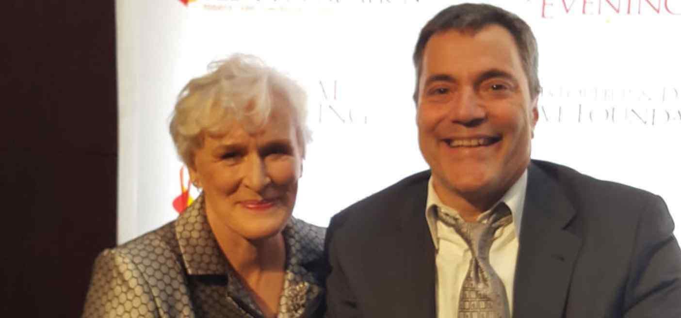 Glenn Close and Ron Gold at A Walk to Believe